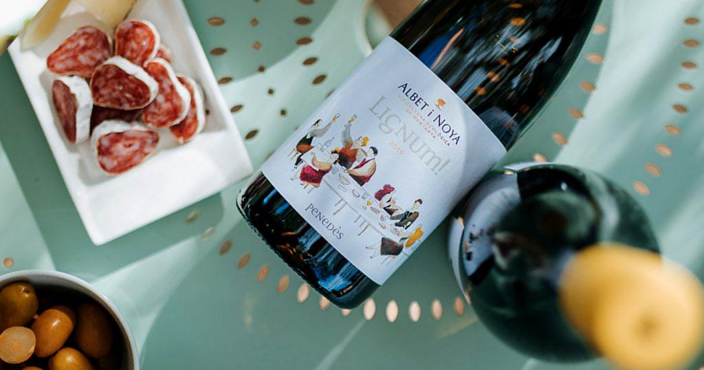 vi blanc ecològic albet i noya lignum blanc